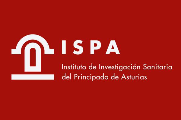 ISPA logo blanco fondo rojo